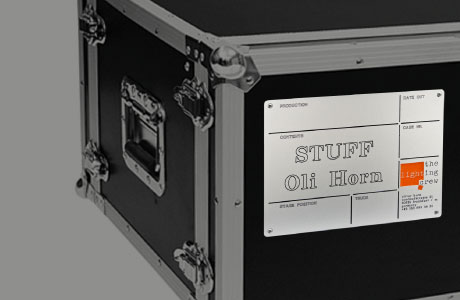 Sign on a flight case